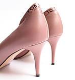 Женские кожаные туфли пудровые, фото 7