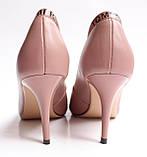 Женские кожаные туфли пудровые, фото 5