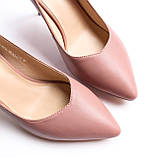 Женские кожаные туфли пудровые, фото 6
