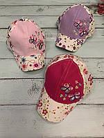 Кепка детская для девочки Бабочка размер 50 см, цвета указывайте при заказе