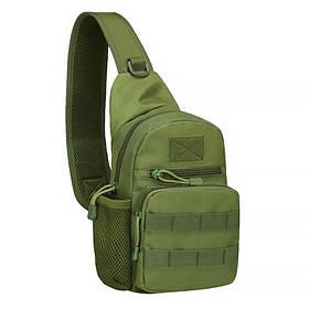 Рюкзак тактичний на одне плече AOKALI Outdoor A14 20L Green КОД: 5368-17001