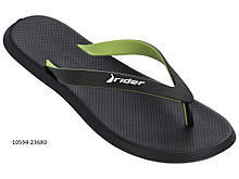 Мужские вьетнамки Rider R1 10594-23680 Чёрно-зелёные