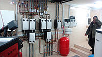 Установка навесного газового котла (до 100 кВт)