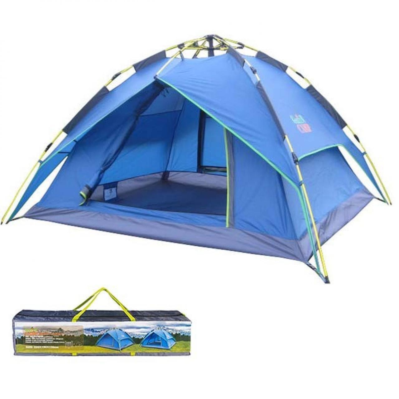 Палатка автоматическая трехместная c тентом Green Camp 1831