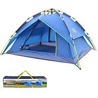 Палатка автоматическая трехместная c тентом Green Camp 1831, фото 1