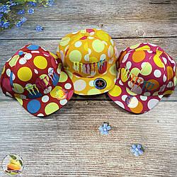 """Дитяча кепка з прямим козирком """"Горох"""" (обсяг 52 - 54 см) (01785)"""