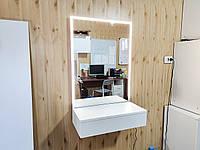 Навесное гримерное зеркало 60 см зеркало с подсветкой лед, туалетный столик для макияжа
