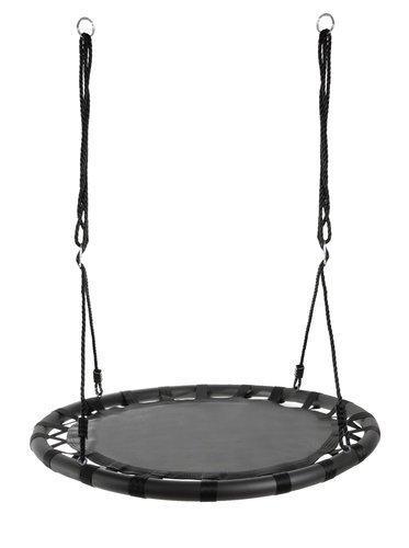 Качеля круглая гнездо аиста подвесная 100см черная