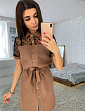 Платье рубашка с кружевом KT2736, фото 6