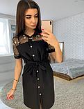 Платье рубашка с кружевом KT2736, фото 5