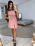 Платье рубашка с кружевом KT2736, фото 7