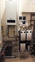 Установка навесного газового котла (до 30 кВт)