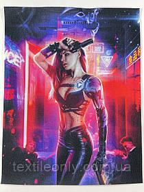 Нашивка Cyberpunk 2077 / Киберпанк 180х230 мм