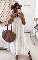 Женское  платье из прошвы  ниже колена   размеры 42-46 ,46-50