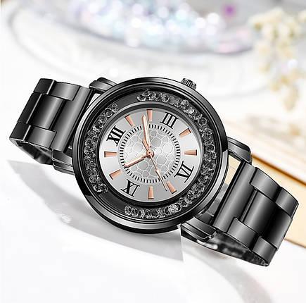Часы женские металлический ремешок камни пересыпаются красиво, фото 2