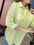Сорочка жіноча бавовна в смужку вільного крою (2 кольори), фото 5
