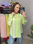Сорочка жіноча бавовна в смужку вільного крою (2 кольори), фото 9