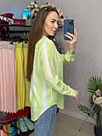Сорочка жіноча бавовна в смужку вільного крою (2 кольори), фото 8