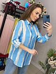 Сорочка жіноча бавовна в смужку вільного крою (2 кольори), фото 3