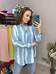 Сорочка жіноча бавовна в смужку вільного крою (2 кольори), фото 10