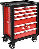 Сервисная тележка на колёсах с выдвижными ящиками YATO YT-55299