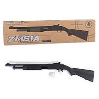 Игрушечное помповое ружье дробовик с металлическим корпусом Cyma Zm61A на пульках