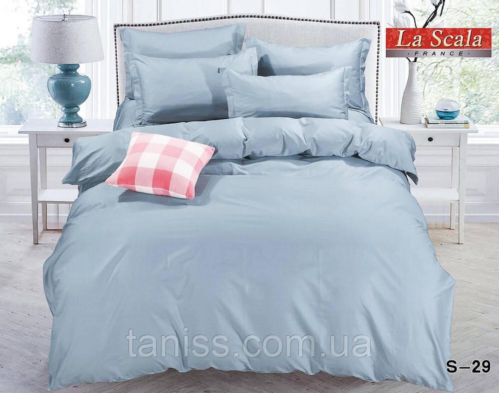 """Полуторный набор постельного белья Бязь """"Gold"""",  расцветка как на фото,  голубое"""