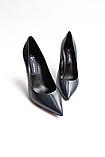 Женские кожаные туфли темно-синие, фото 2