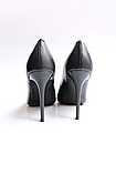 Женские кожаные туфли темно-синие, фото 4