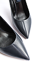 Женские кожаные туфли темно-синие, фото 3