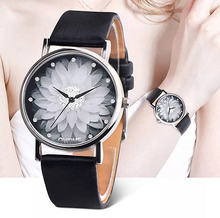 Часы женские с цветочком, фото 2