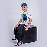 Футболка синяя для мальчика Among As, фото 4