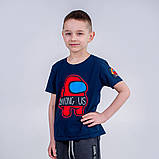 Футболка синяя для мальчика Among As, фото 3