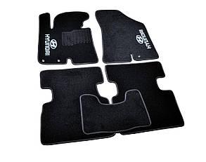 Коврики в салон ворсовые для Hyundai IX35 (2010-)/Хюндай Ай Икс 35 /Чёрные, кт. 5шт
