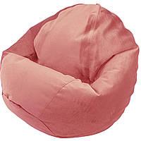 Крісло Мішок Велюр 120/90 см Рожевий