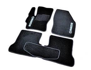 Коврики в салон ворсовые для Mazda 3 2003/Мазда 3 (2003-2009) BK /Чёрные, кт. 5шт