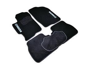 Коврики в салон ворсовые для Mazda 6 /Мазда 6 (2002-2008) /Чёрные