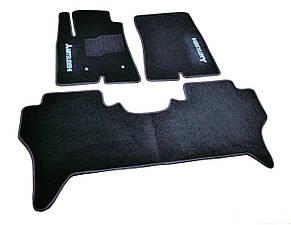 Коврики в салон ворсовые для Mitsubishi Pajero IV (2006-) 5 дв. /Чёрные, кт.3шт