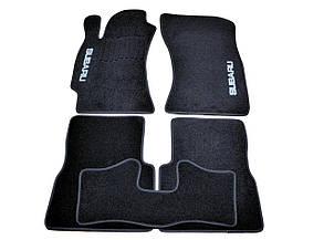 Коврики в салон ворсовые для Subaru Forester (2008-2012) /Субару/Чёрные
