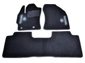 Коврики в салон ворсовые для Тойота /Toyota Corolla/Auris (2013-) /Чёрные, 3шт