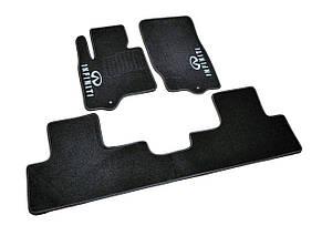 Килимки в салон ворсові для Infiniti FX35/45/QX70 (2008-)/Інфініті ФХ/Кью Х 70/Чорні, кт-3шт BLCCR1245