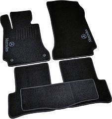 Коврики в салон ворсовые для Мерседес/ Mercedes C204/GLK X204 (2007-2014) /Чёрные, 5шт