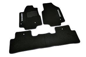 Килимки в салон ворсові AVTM для Honda/ Хонда Pilot (2008-) 5 місць /Чорні 5шт BLCCR1196