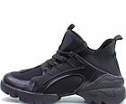 Стильні жіночі текстильні кросівки чорного кольору, фото 9