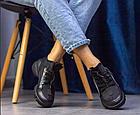 Стильні жіночі текстильні кросівки чорного кольору, фото 3