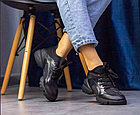 Стильні жіночі текстильні кросівки чорного кольору, фото 4
