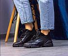 Стильні жіночі текстильні кросівки чорного кольору, фото 5