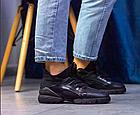 Стильні жіночі текстильні кросівки чорного кольору, фото 6