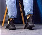 Стильні жіночі текстильні кросівки чорного кольору, фото 8
