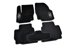 Килимки в салон ворсові AVTM для Ford Mondeo (2007-2013)/Форд Мондео /Чорні BLCCR1160